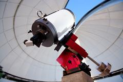 Astronomical observatory telescope indoor Stock Photos