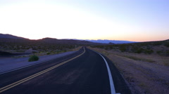 Empty road through Arizona desert. Stock Footage