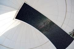 Stock Photo of astronomical observatory indoor white dome