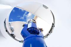 Astronomical observatory telescope indoor Stock Photos