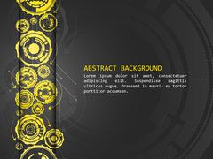 Stock Illustration of Abstract vector background with technological pattern