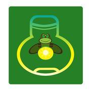 Fireflies, vector illustration - stock illustration