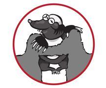 Cartoon Character Mole Isolated on White Background. Stock Illustration