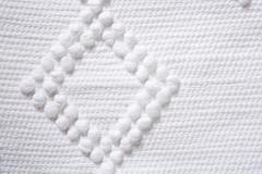 Cotton tricot pique fabric macro texture Stock Photos