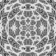 Beautiful decorative ornamental lace - digitally rendered design in art noveau s Stock Illustration