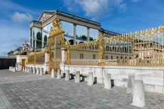 Golden gate of Palace Versailles near Paris, France Stock Photos