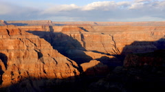 The Grand Canyon at sunset Stock Footage