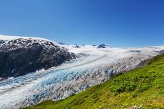 Exit glacier - stock photo