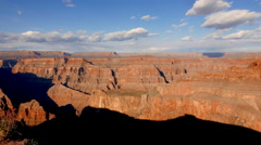 Panoramic wide angle shot of Grand Canyon . Stock Footage