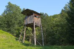 Hunting tower structure Stock Photos