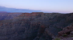 The famous Grand Canyon after sunset - nice evening view Stock Footage