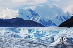 Kennicott glacier - stock photo