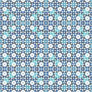 Blue mosaic soft pattern - stock illustration