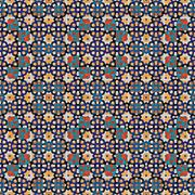 Abstract decorative pattern in retro mosaic style - stock illustration