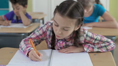 Diligent Elementary Student Stock Footage