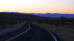 Empty road to Grand Canyon in the Arizona desert. Stock Footage