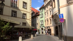 Types of the old town (Stare Mesto) of Prague. Stock Footage
