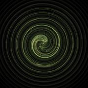 Fractal 31 green spiral Stock Illustration