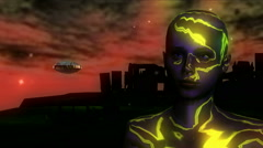 Strange Alien Visitor 4 Stock Footage