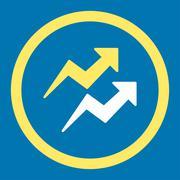 Trends icon Stock Illustration
