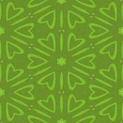 Green decorative wallpaper with sweet hearts - stock illustration