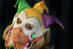 Woman with Mask - stock photo