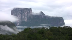 Stock Video Footage of Autana Tepuy - Amazonas - Time Lapse