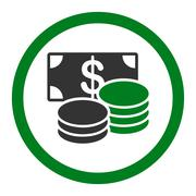 Cash icon Stock Illustration