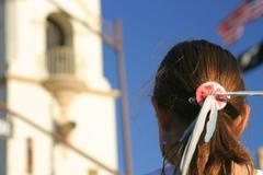 Stock Photo of Girl Feather Headdress