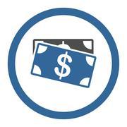 Dollar Banknotes icon - stock illustration