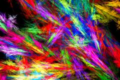 Sheaf of colored sparks. Unusual snow patterns on glass. - stock illustration