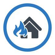 Fire Damage icon - stock illustration