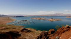 Beautiful Lake Mead, Nevada . Stock Footage