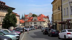 Types of Prague. Hradcany (Pohorelec street). Stock Footage
