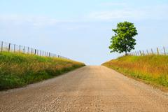 Midwest Gravel Road Stock Photos