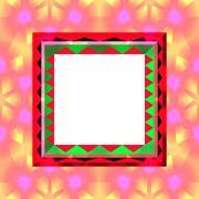 Colorful op art frame Stock Illustration