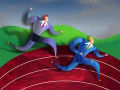 Business Race Stock Illustration