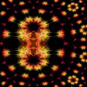 Supernova explosion digitally rendered fractal pattern Stock Illustration