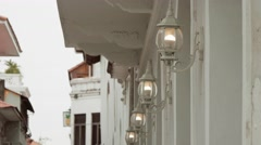 Lights And Old Street Lamps In Casco Antiguo Panama Stock Footage