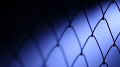 Metal Fence net Stock Footage