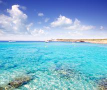 Cala Conta in Ibiza island near San Antonio - stock photo