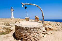 Draw well traditional mediterranean masonry - stock photo
