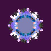 Stock Illustration of Abstract decorative purple blue white flower fractal shape