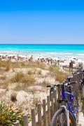 Formentera migjorn Els Arenals beach in summer Stock Photos