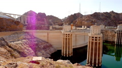 The Hoover Dam on a sunny day Stock Footage