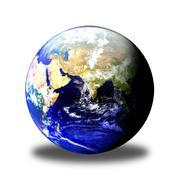 Stock Photo of Earth Globe East Shadow