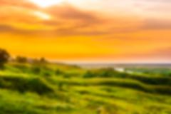 Sunset in countryside - stock illustration