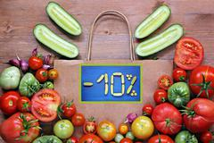 A still life with vegetables. Discount:-10% - stock photo