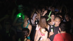 Teenage Clubbing Crowd party strobe light 08 Stock Footage