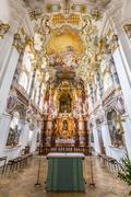 Interior of Pilgrimage Church Germany Stock Photos